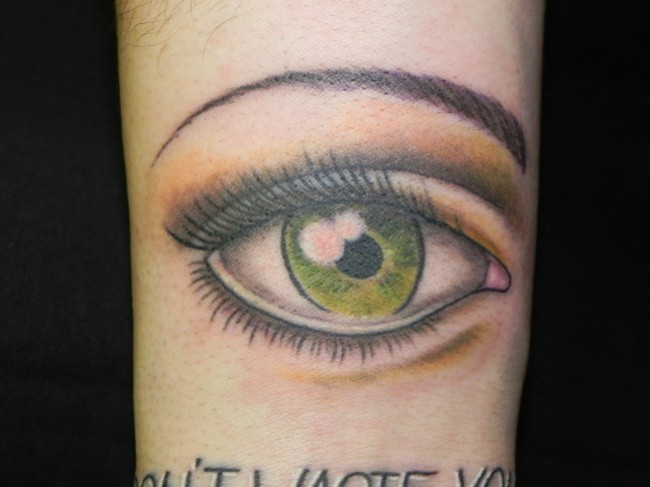 Color Eye Tattoo