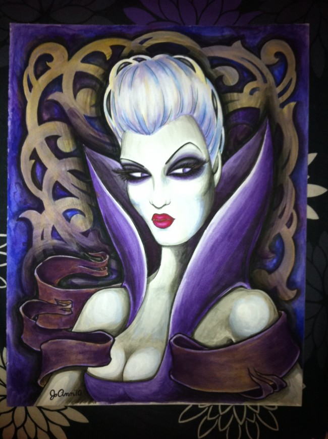Lady in Purple painting by Jo Ann Atwood