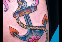 Anchor with Pink Flower
