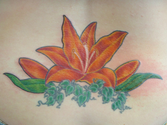 Orange Flower Tattoo