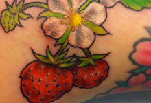 Strawberries with Flowers