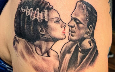 Frankenstein Kiss Tattoo: Bride & Monster
