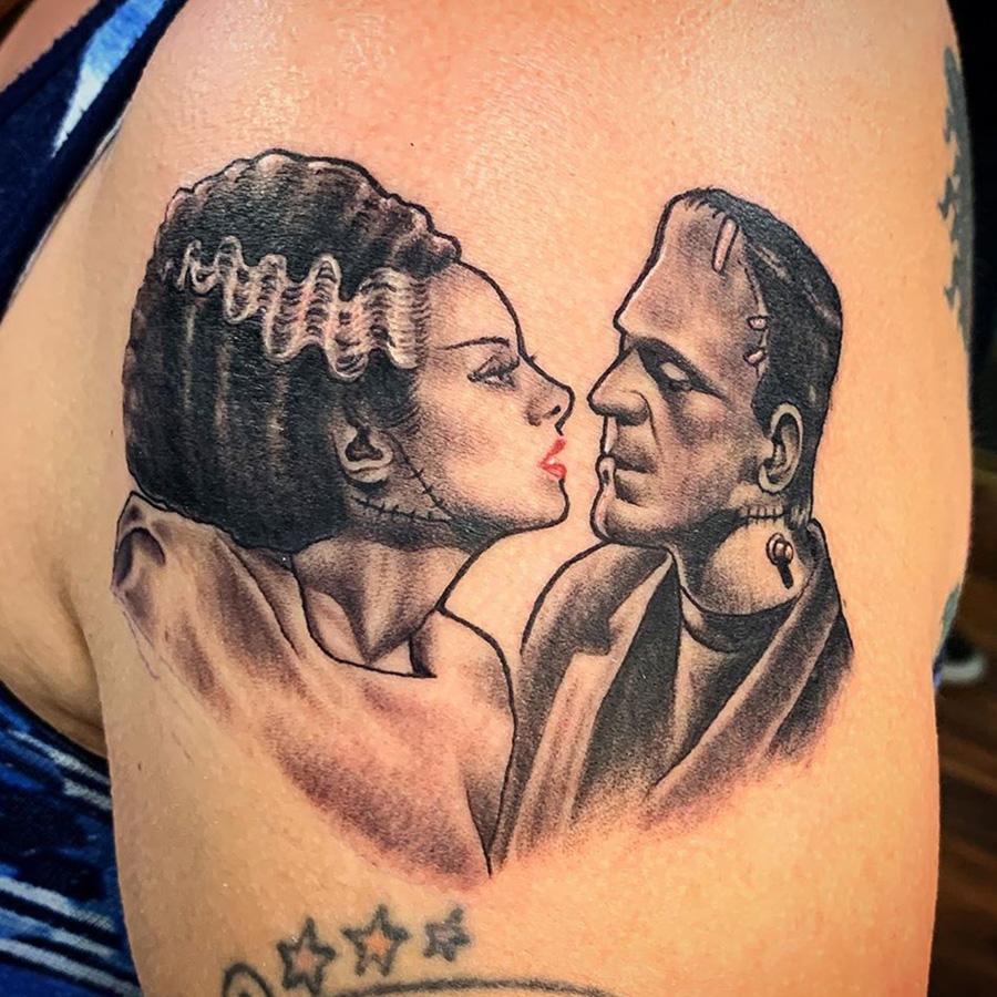 Frankenstein Kiss tattoo