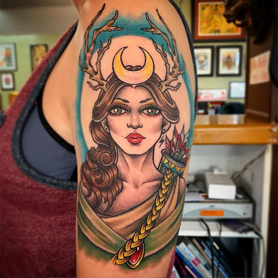 Goddess Artemis tattoo