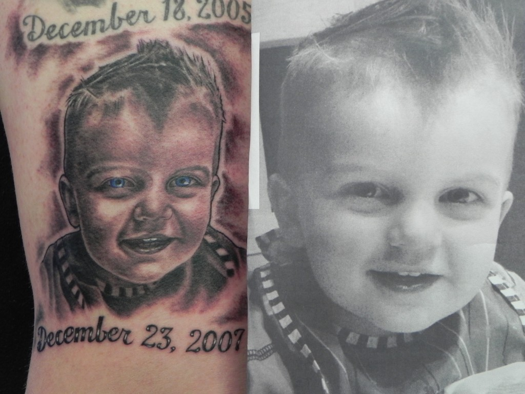 Baby Portrait Tattoo with Photo