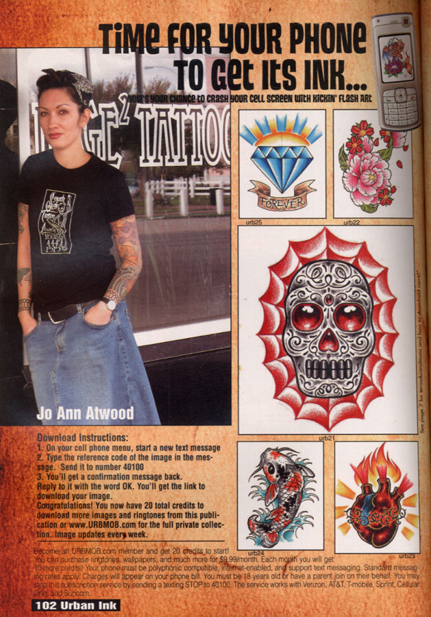 Tattoo Flash Wallpaper Ad