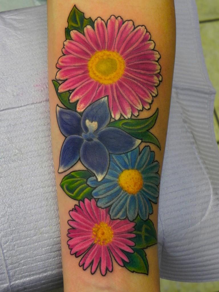 Flower Design Tattoo