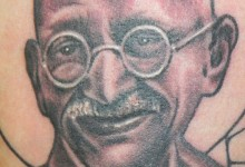 Gandhi Portrait Tattoo image