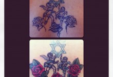 Cherubs and Roses Rework Tattoo