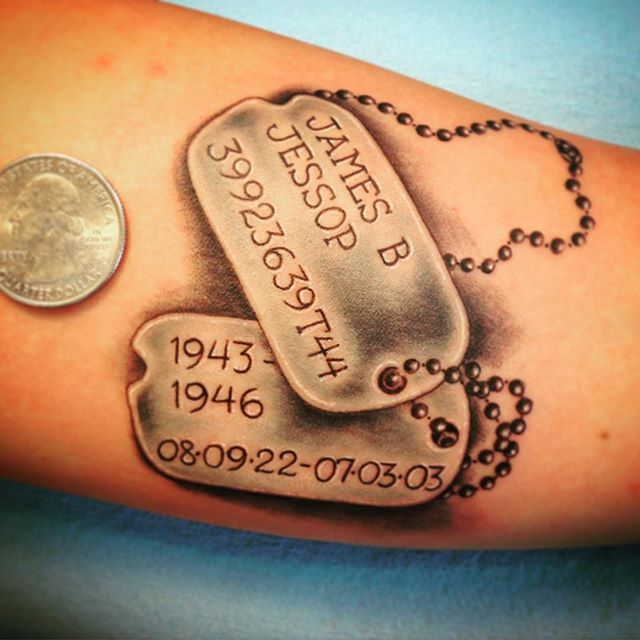 dog tags tattoo
