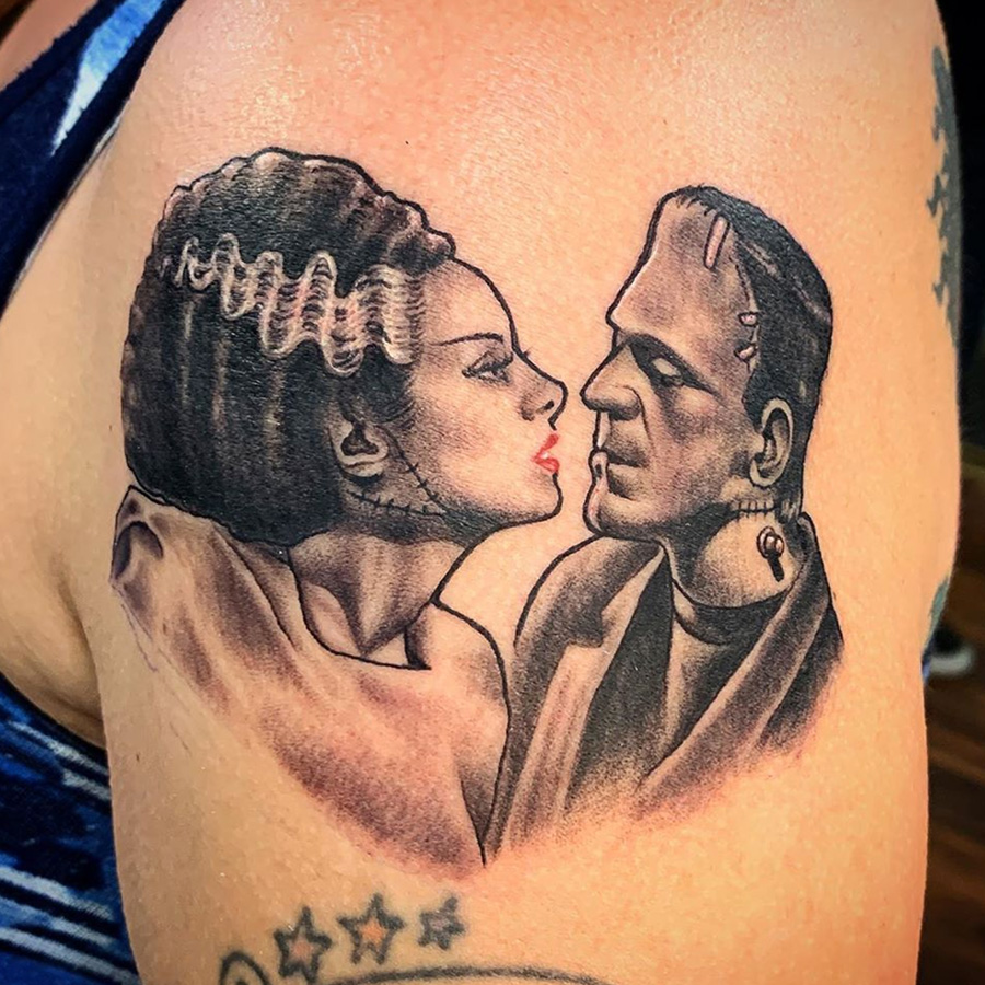 Frankenstein Kiss tattoo