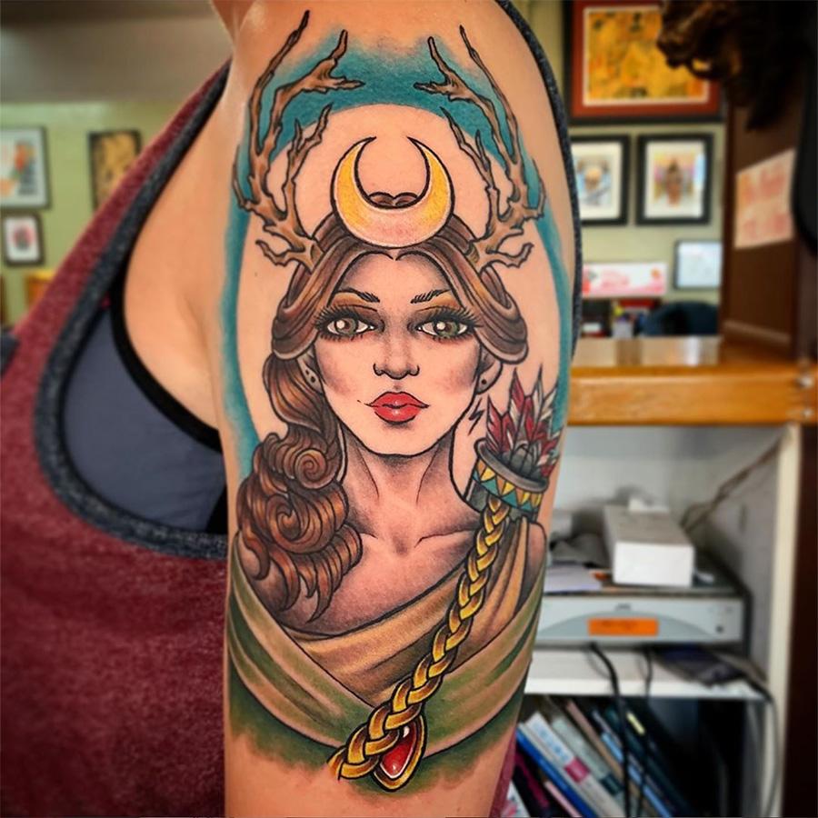 Goddess Artemis tattoo